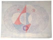 Color lithograph Ernst Van Leyden 1967 Octavio Paz abstract 13/20 XXth