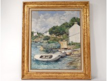 HST Louis Garin boats houses Ile aux Moines Gulf Morbihan Brittany twentieth