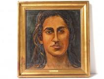 HSP Pierre Creixams portrait young Spanish gypsy woman School Paris XXth