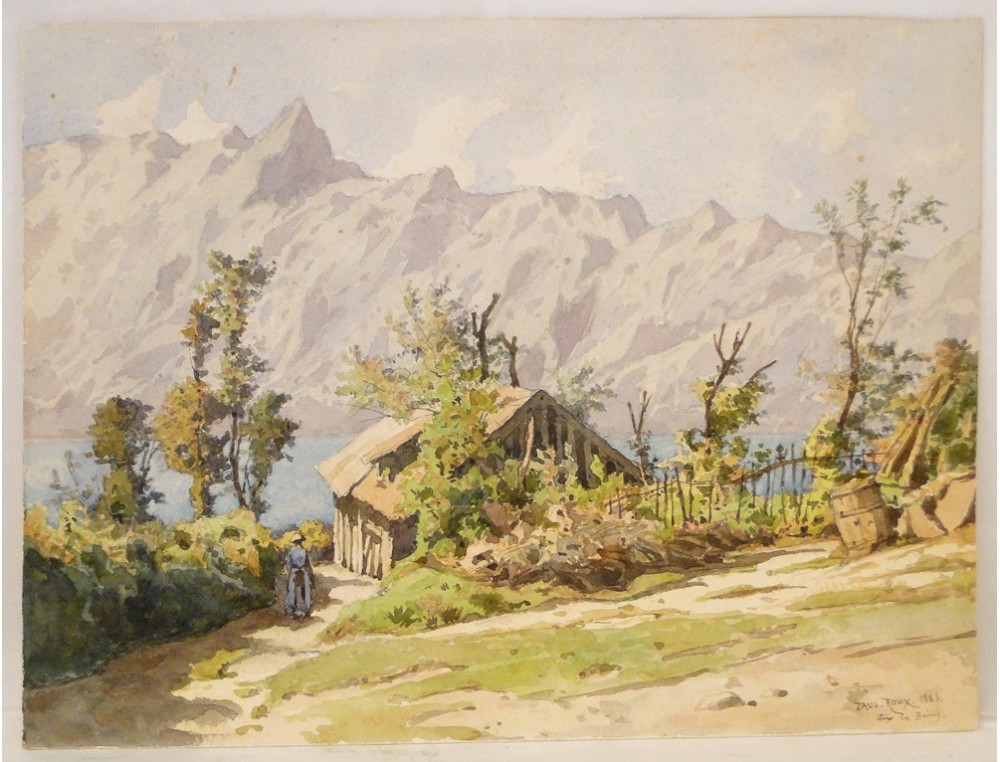 landscape watercolor painting aix les bains paul roux 1883 painting boxes for sale painting boxes to look like stone
