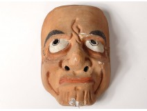 Mask of Noh polychrome wooden theater demon Gigaku O-beshimi Japan nineteenth