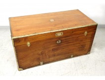Navy trunk captain chest camphor brass lock ringtone nineteenth