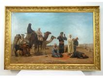 Great HST orientalist picture caravan characters Turkey Peyclit twentieth
