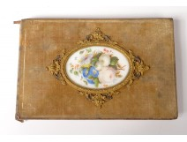 Carnet drawings porcelain miniature bouquet flowers brass gilt nineteenth century