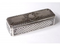 Box snuffbox solid silver flowers silver snuffbox 75gr nineteenth century