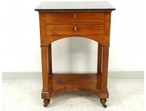 Bedside table Empire mahogany black marble late nineteenth century