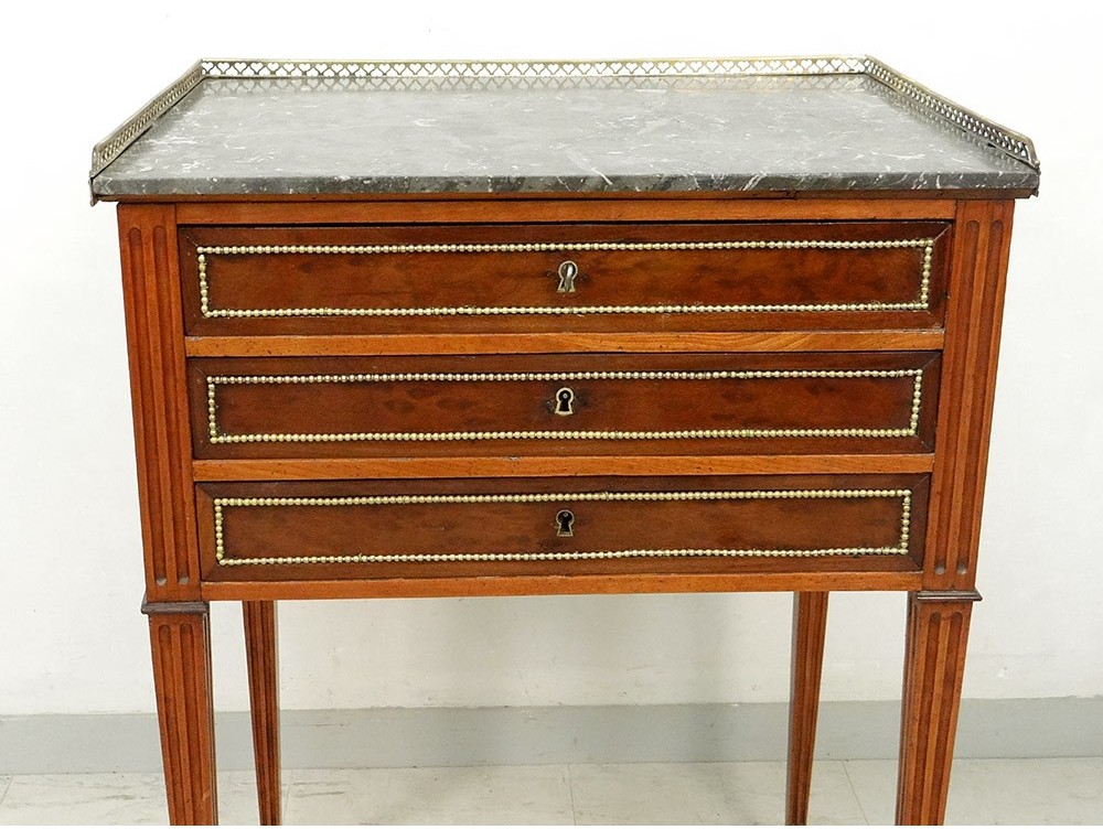 Astonishing Small Coffee Table Louis Xvi Writing Mahogany Marble Gray Gmtry Best Dining Table And Chair Ideas Images Gmtryco