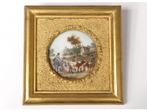 Miniature painted village characters countryside herd romantic nineteenth