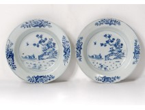 China porcelain dish plate India Company Kangxi Eighteenth Birds