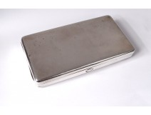 English silver cigarette case London Cohen & Charles silver twentieth