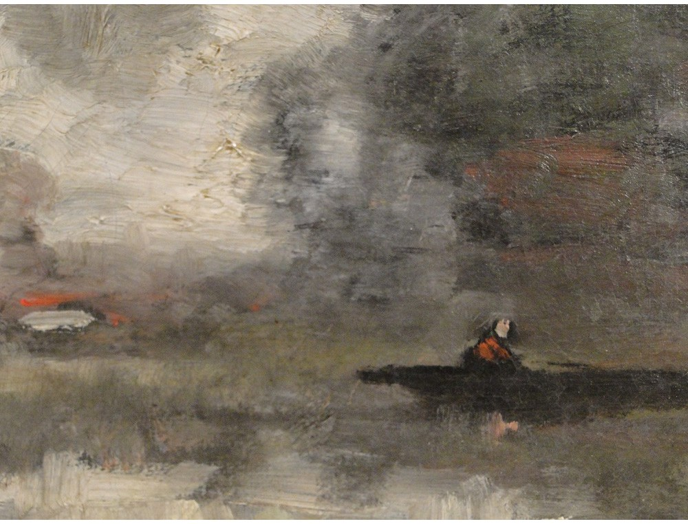 Hst impressionist trouillebert corot barbizon nineteenth for Barbizon peintre