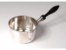Sterling silver saucepan Minerve blackened wood handle silver saucepan nineteenth