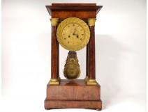 Pendulum gantry Empire columns mahogany gilt bronze griffons clock nineteenth