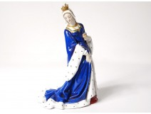 Porcelain German statue Passau Bavaria Queen Middle Ages crown nineteenth