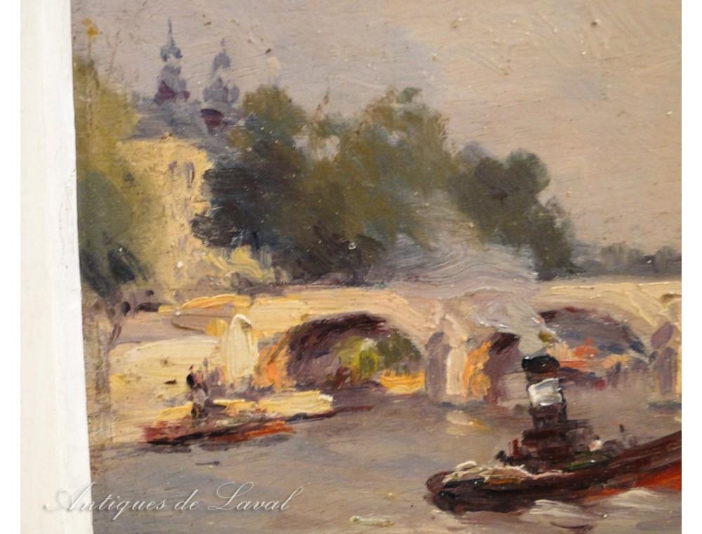 hst quays albert rouen seine boats bridge lebourg nineteenth