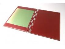 Hermès desk pad Paris Dupré-Lafon leather red bronze vintage twentieth