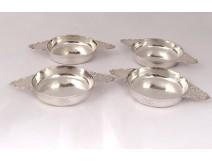 4 bowls solid silver Mercury silversmith Mellerio said Meller 628gr twentieth