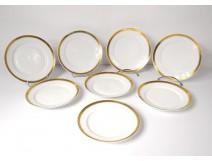 8 plates Darte Royal Palace Paris porcelain gilding Charles X XIX