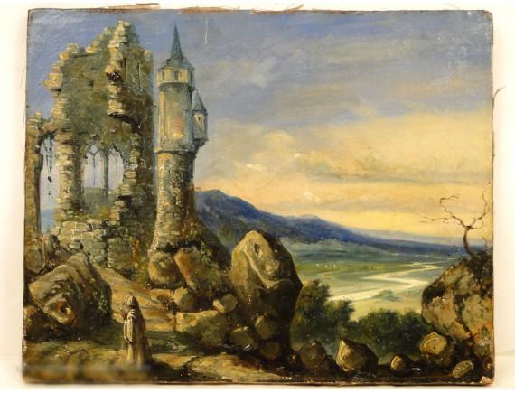 Hst Druids Fantasy Castle Ruins Nineteenth