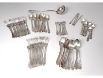 Housewife 72PC covered ladle silver metal Ribbon Cailar-Bayard twentieth century