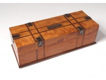 Glove box Walnut Shop Au Petit Dunkirk Paris metal nineteenth century