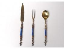 Enamelled silverware silverware enamel Austria man helmeted nineteenth century