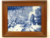 Table tiled snowy landscape Louis Apol 19th