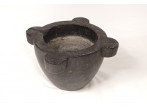 Mortar black marble apothecary mortar nineteenth century