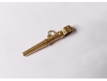 19th century solid gold watch key