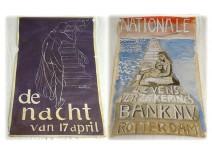 Poster drawing Ernst Van Leyden Congress Alliance Indonesian portrait 1921