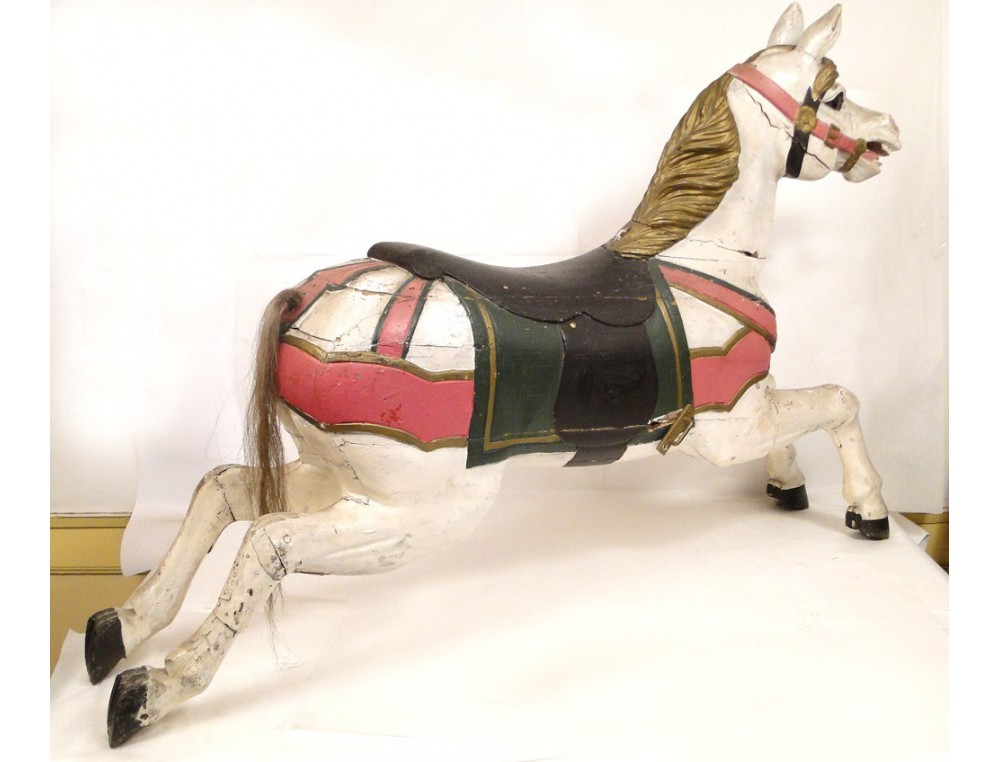 carousel horse carved wooden polychrome 19th century. Black Bedroom Furniture Sets. Home Design Ideas