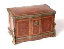 Inox tea box amber bronze loupe Martin Tiefenbruner Paris nineteenth