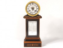Pendulum terminal Charles X thermometer rosewood inlay Brocot nineteenth