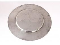 Chalice Patina silver vermeillé cross Minerva Goldsmith Favier 102gr Nineteenth