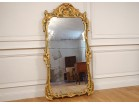 Large mirror Regency wood carved gilt polychrome shell foliage eighteenth