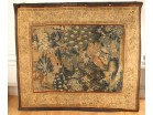 Tapestry Aubusson gallant scene Green Galant landscape green mill eighteenth