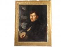 HST painting portrait gentleman writer literary I Empire nineteenth century