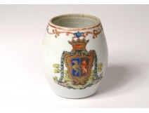 Porcelain armorie cream jar Company India coat of arms coat of arms eighteenth