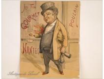"Drawing old advertising ""Au Fin Gourmet"" Poulain Nantes twentieth"