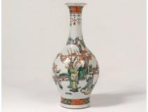 Chinese porcelain vase characters mandarin women garden landscape nineteenth