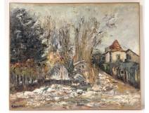 HST painting Georges Ballerat snowy landscape Bures-sur-Yvette Chevreuse twentieth
