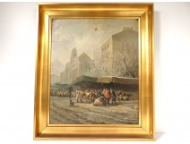 HST table characters cattle market country Basque Pyrenees church nineteenth