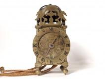 Wall clock Capucine bronze brass brass columns William Bower XVII