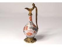 Small ewer cassolette porcelain imari Japan bronze flowers nineteenth century