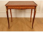 Louis XV writing table inlaid with gilded bronze eighteenth century