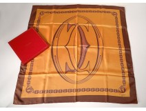 Square scarf Must Cartier Paris vintage box set twentieth century