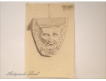 Drawing Architecture Monument Console head Fauna 20th