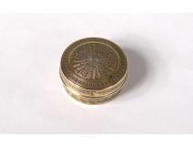 Small pill box silver round Vermeil Minerva Solomon 6,50gr Twentieth