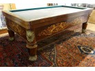 Billiard Charles X marquetry rosewood bronze lions coat of arms nineteenth century