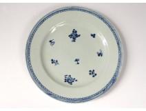 Porcelain plate India Company China flowers foliage eighteenth